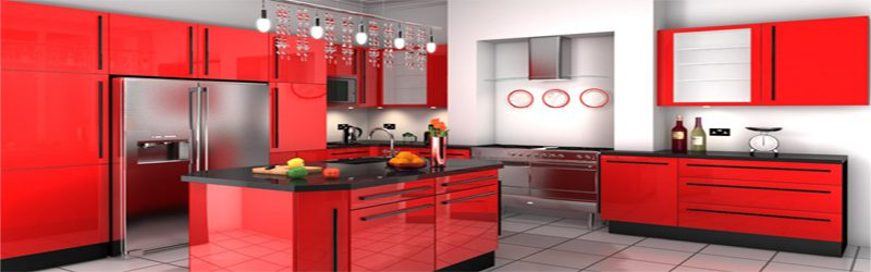 Красные кухни на заказ